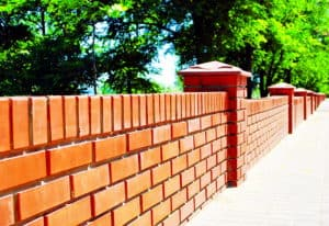 Classic red brick wall