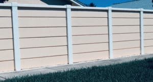 Residential concrete fence