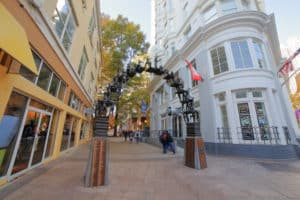 Atlanta, GA Fairlie-Poplar Historic District entryway