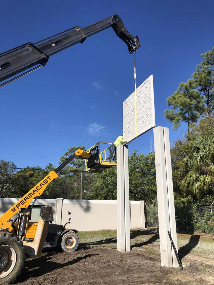 Precast Wall Installation