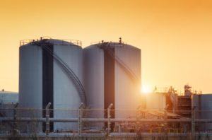 LNG storage tanks
