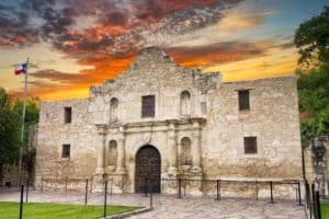 Front of Historic alamo building