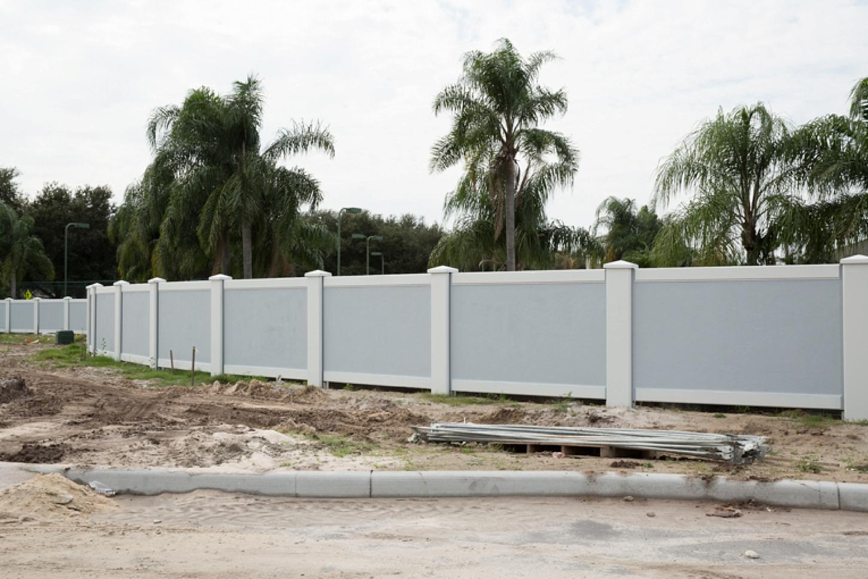 Precast concrete fencing installation permacast walls - Precast concrete fences ...