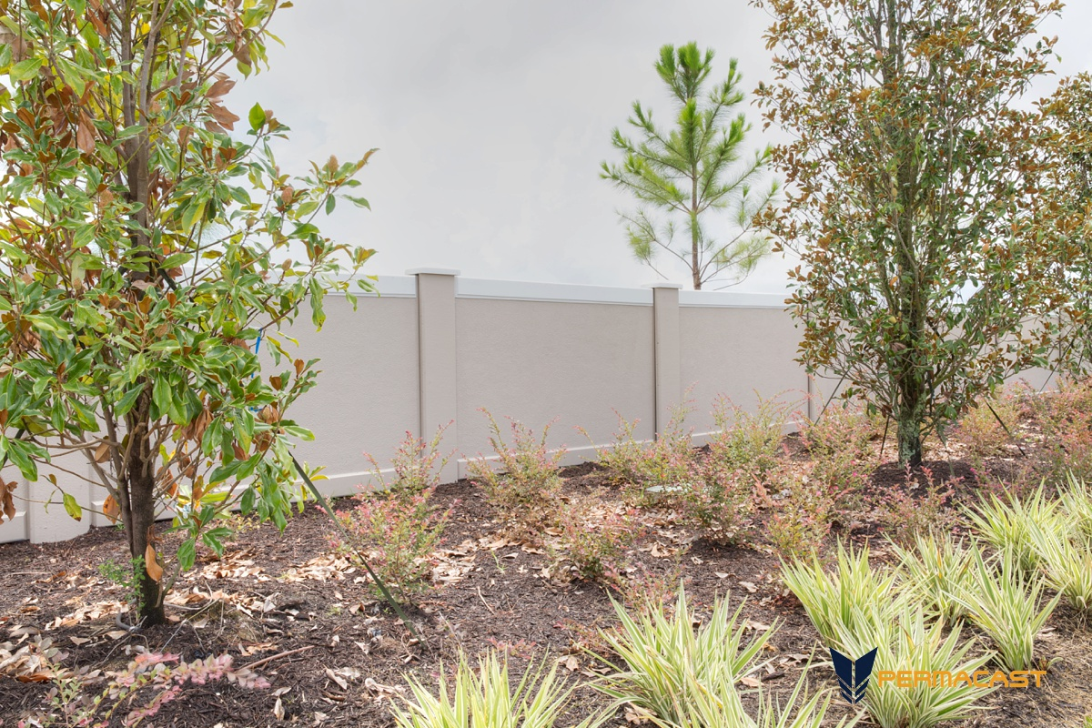 Concrete fence panels by Permacast
