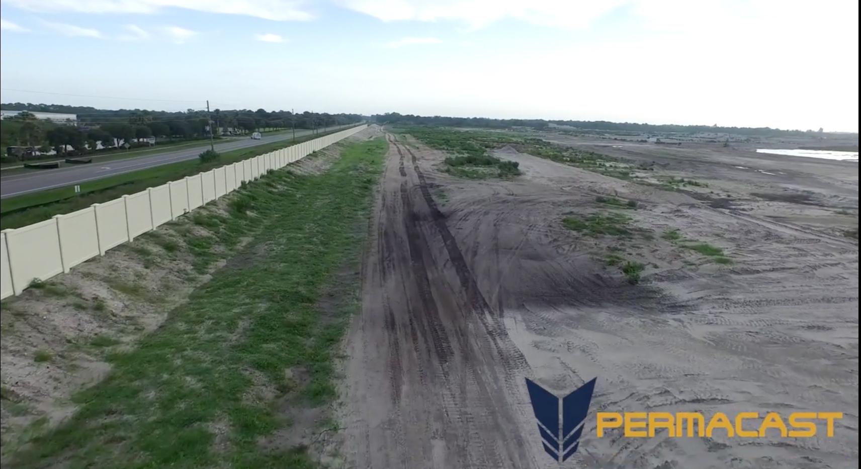 Florida precast concrete fencing project by Permacast