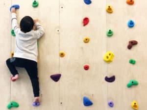 Child rock climbing wall