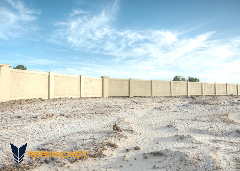 precast concrete site walls