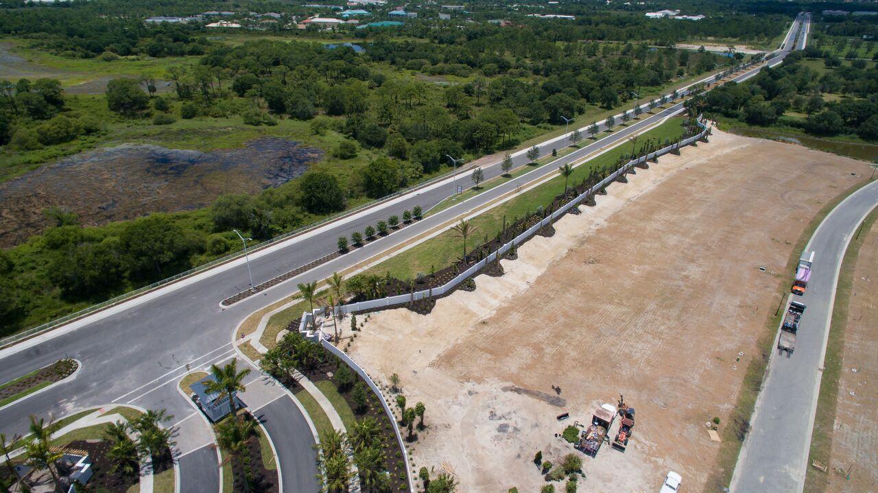 Permacast precast concrete fence construction