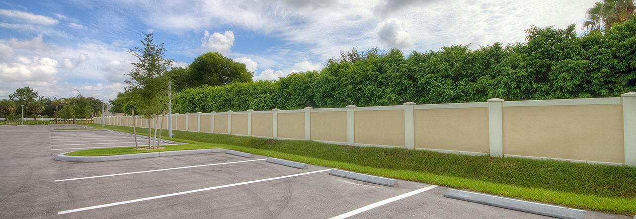 Permacast precast concrete fence project