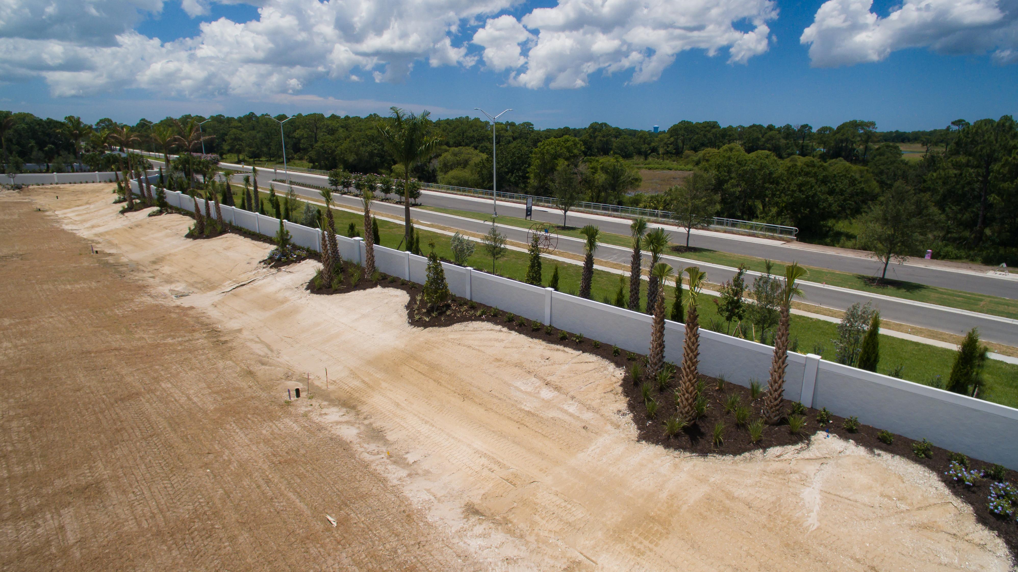 Permacast precast concrete fence in progress
