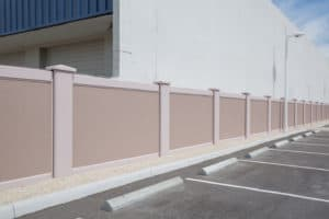 Permacast Wall in parking lot