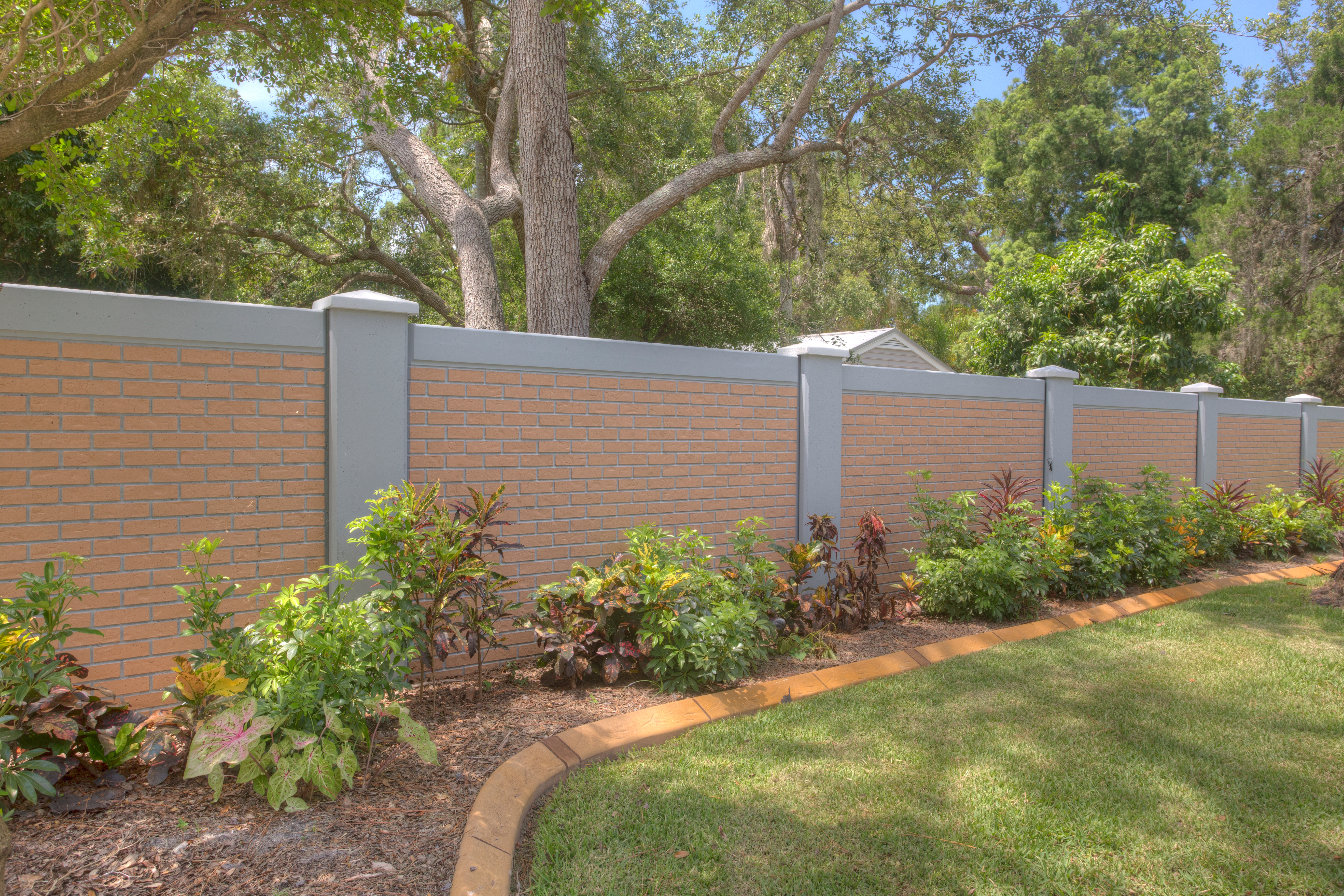 Permacast precast concrete fence completed project - Permawall