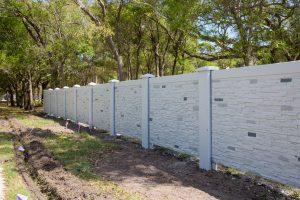 Permacast precast concrete fence - Permawall