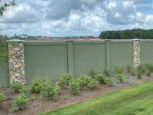 Green precast wall