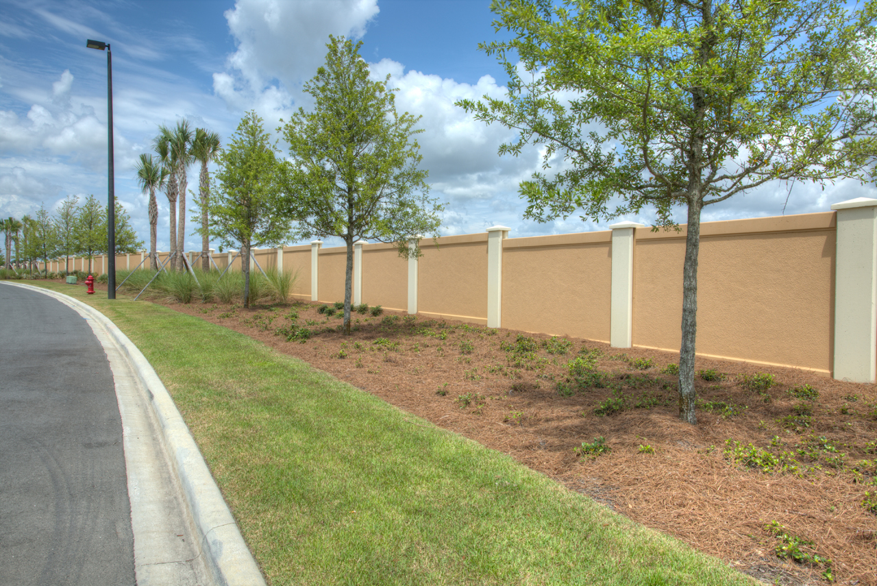Permacast precast concrete fence finished project