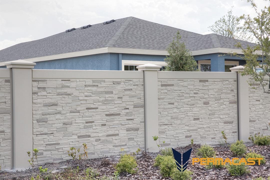 precast concrete stone wall