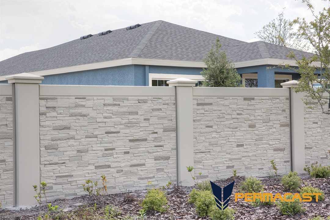 Precast Stone Walls : Precast concrete stone wall permawall florida