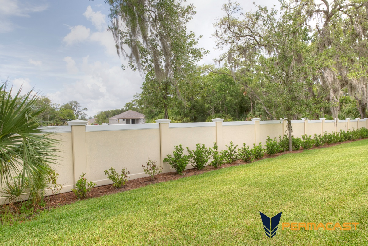 Precast fence by Permacast