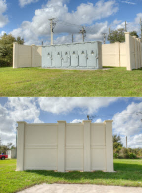 Permacast secure precast concrete fencing