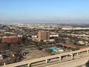 aerial view of the city of arlington, tx