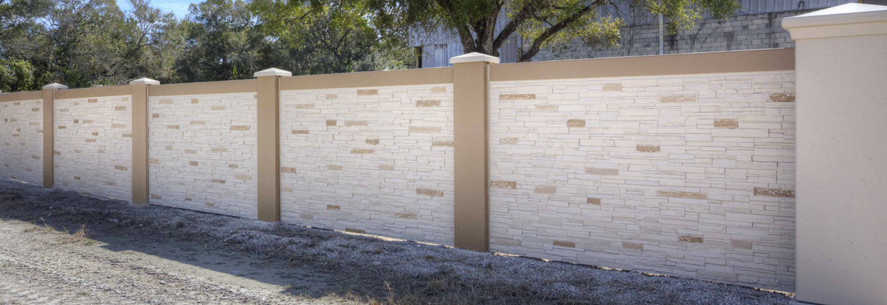 Designing permastone precast stacked stone texture permacast walls - Concrete fence models design ...