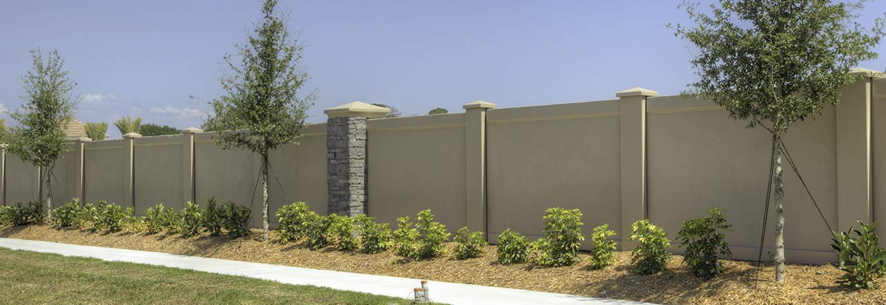 Stucco Fences By Permacast Permacast Walls