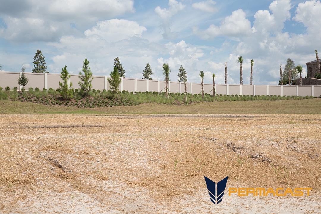 Precast concrete fence panels in Houston