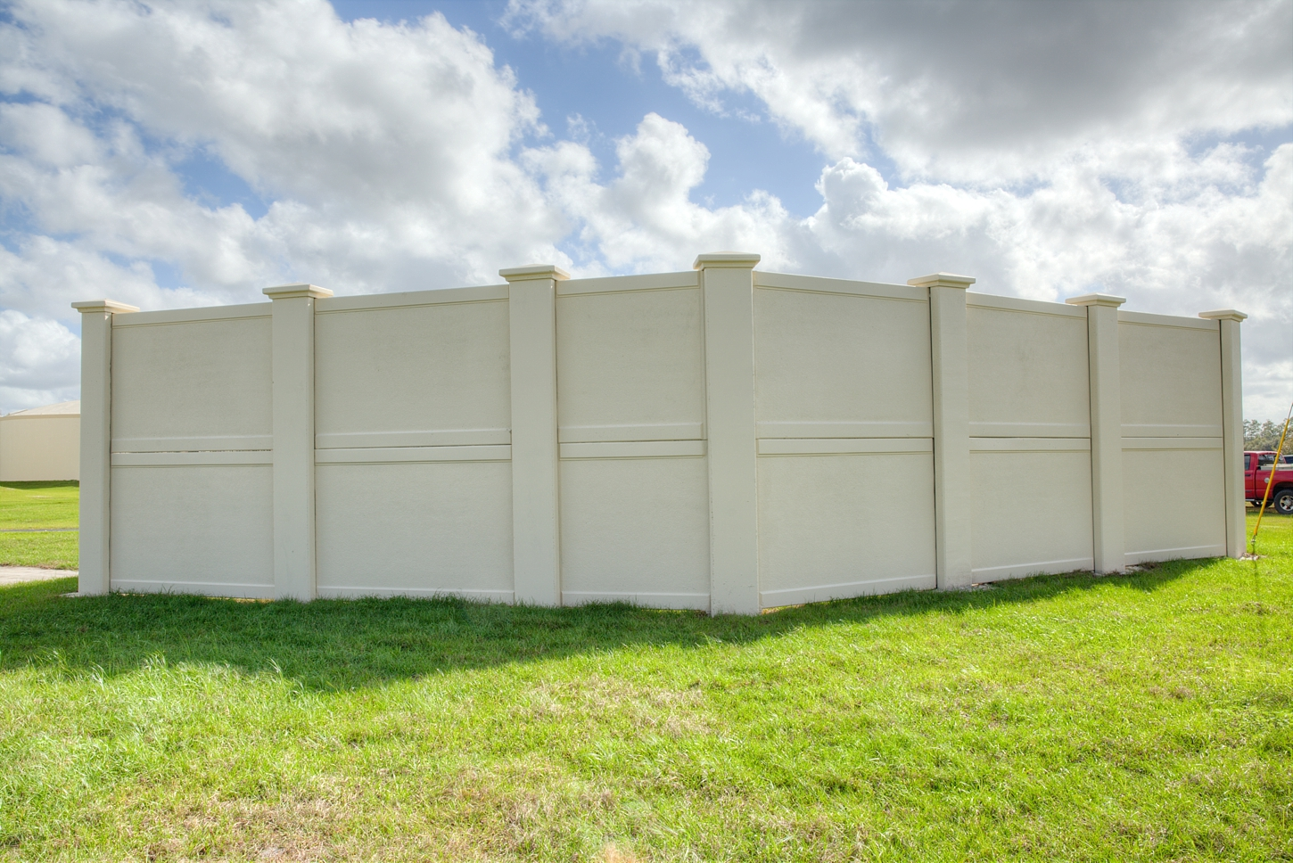 Permacast utility security fences and walls for homeland security